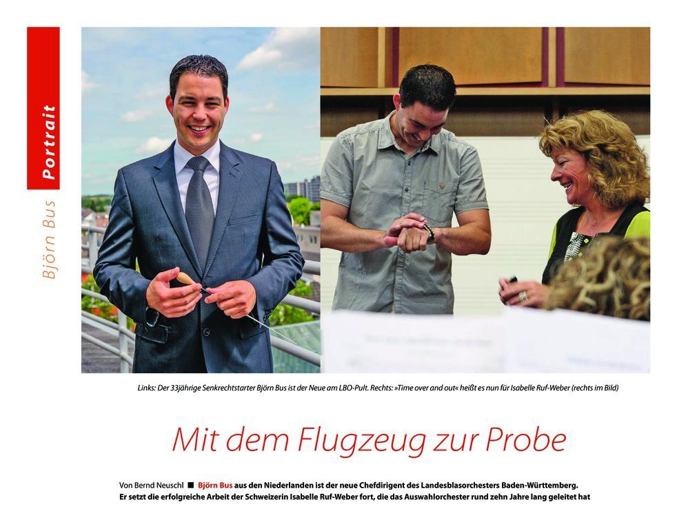 """Interview magazine """"Eurowinds"""" – Mit dem Flugzeug zur Probe"""